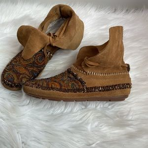 House of Harlow 1960 Mallory Moccasin Booties-6.5